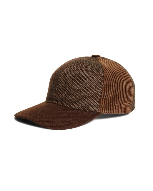 Brooks Brothers | Brown Patchwork Baseball Cap for Men | Lyst