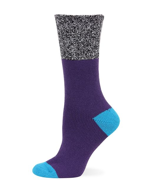 Hot Sox | Purple Color Blocked Marled Boot Socks | Lyst