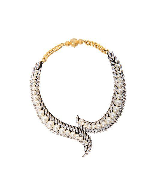 Shourouk | Metallic Piuma Beaded Necklace | Lyst