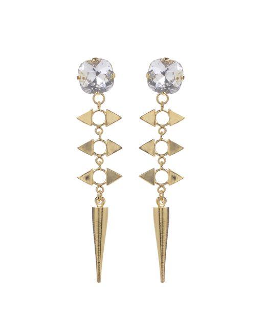 Jill Golden | Yellow Crystal Reflection Spike Earring | Lyst