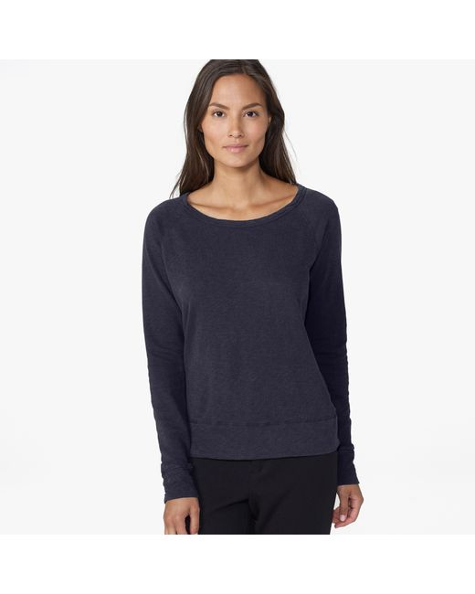 James Perse | Blue Vintage Fleece Long Sleeve Sweatshirt | Lyst