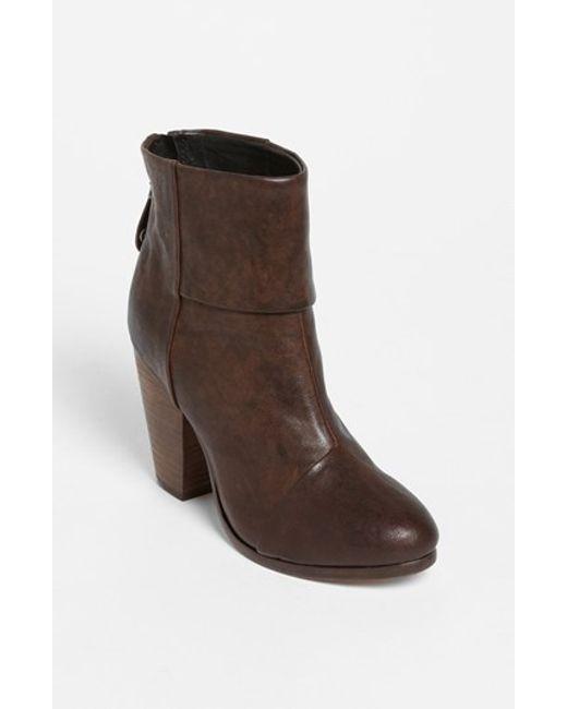 rag bone newbury suede ankle boots in brown save 62