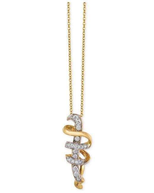 Le Vian | Metallic Diamond Swirl Pendant Necklace (1/8 Ct. T.w.) In 14k Gold | Lyst