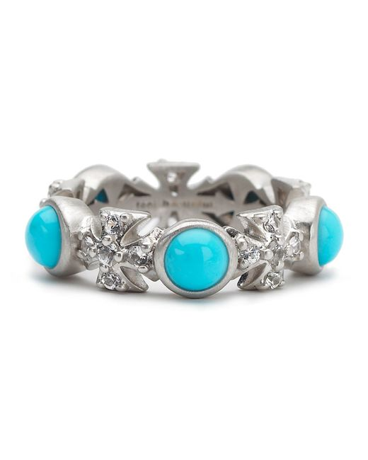 Elizabeth Showers | Blue Turquoise/sapphire Maltese Eternity Ring | Lyst