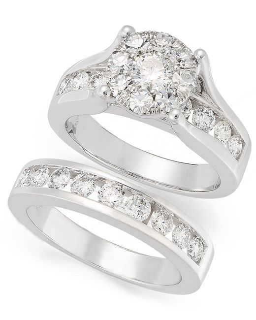 Macy's Seven-row Diamond Ring In 10k Yellow Or White Gold