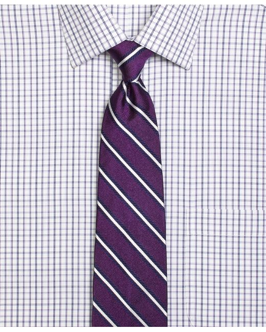 Brooks Brothers | Purple Framed Repp Stripe Tie for Men | Lyst