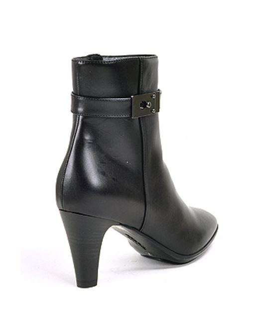 aquatalia water resistant leather ankle boots in black lyst