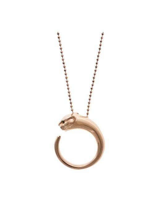 Anita Ko | Pink Panther 18-Karat Rose-Gold Necklace | Lyst