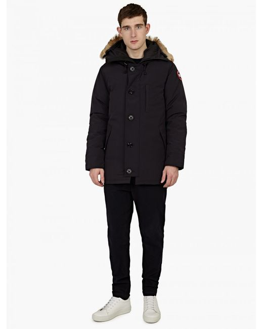 Canada Goose kids online discounts - Canada goose Navy Fur-trimmed 'chateau' Parka in Gray for Men | Lyst