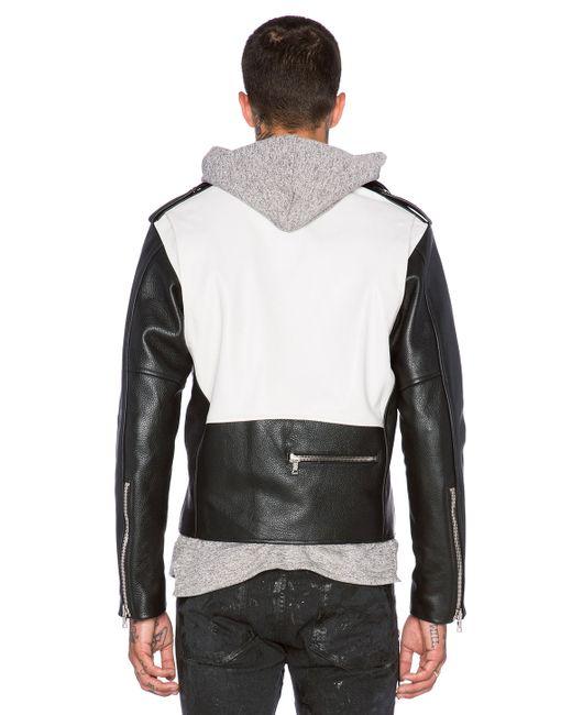 Mr Completely Leather Moto Jacket In Black For Men Black