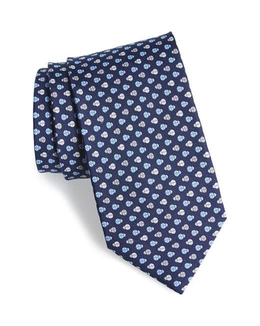Ferragamo | Blue Ladybug Print Silk Tie for Men | Lyst