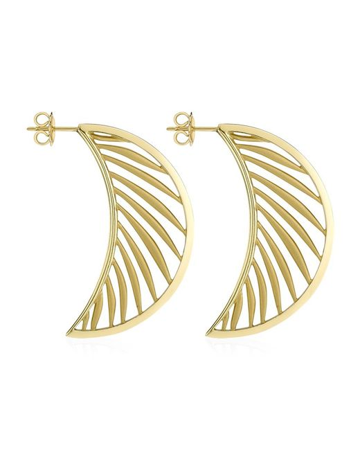 Theo Fennell | Metallic Palm Diamond Half Hoop Earrings | Lyst
