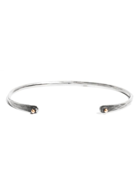 Melissa Joy Manning | Metallic Black Oxidized Silver Cuff With 14 Karat Gold Detail | Lyst