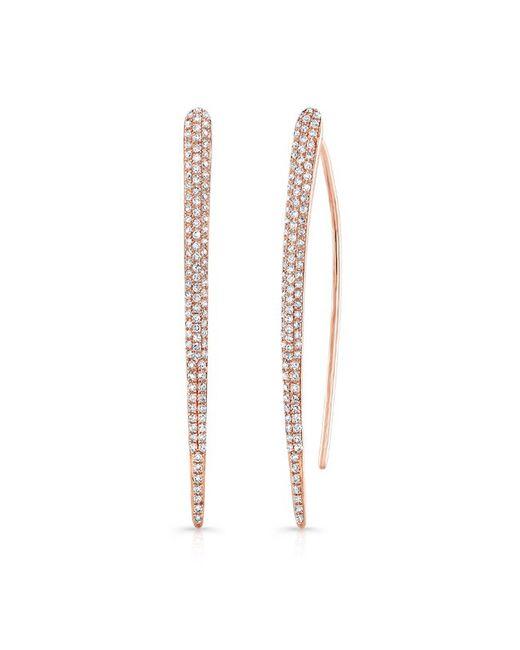 Anne Sisteron | Pink 14kt Rose Gold Diamond Large Wishbone Earrings | Lyst
