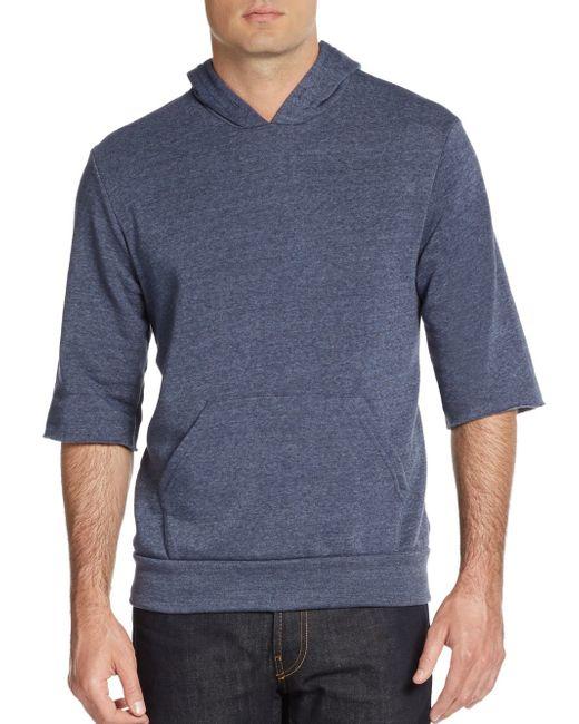 Alternative Apparel | Blue Three-quarter Sleeve Hoodie for Men | Lyst