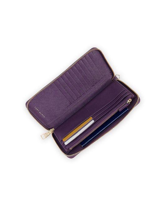 Tory Burch | Purple York Zip Passport Continental Wallet | Lyst