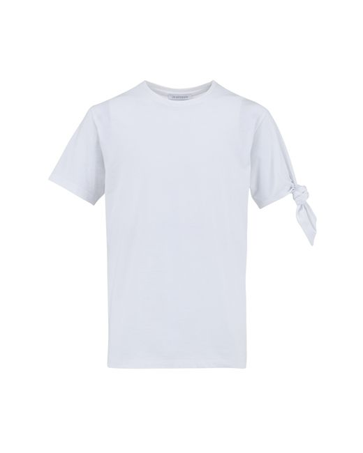 J.W.Anderson   White Single Knot T-shirt for Men   Lyst