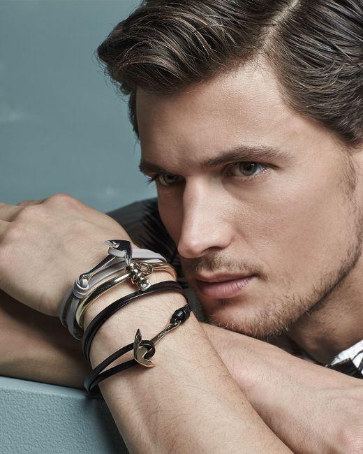 Miansai | Gray Anchor Leather Bracelet | Lyst