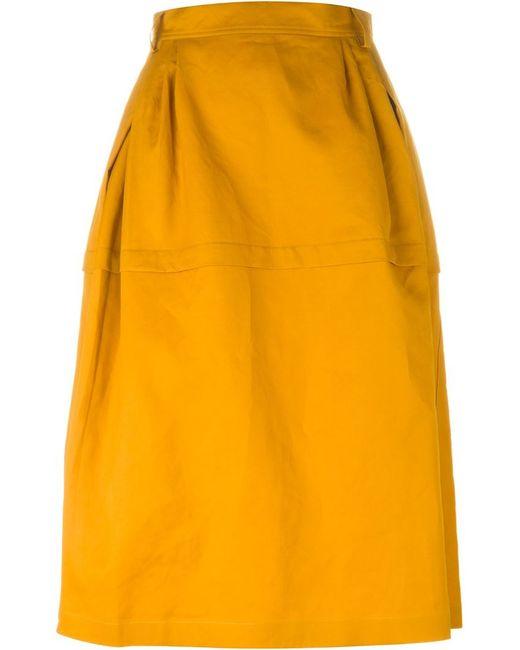 sofie d hoore midi skirt in yellow yellow orange