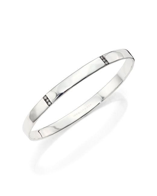 Ippolita | Metallic Glamazon Stardust Diamond & Sterling Silver Three-section Bangle Bracelet | Lyst