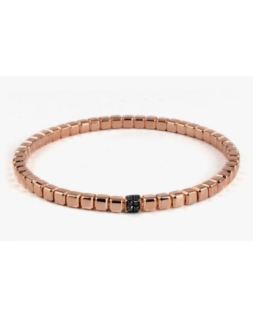 Tateossian | Quadro Cube Bracelet In 18k Rose Gold With Black Diamonds for Men | Lyst