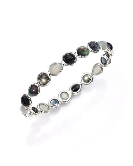 Ippolita | Rock Candy Black Tie Semi-precious Multi-stone & Sterling Silver All-around Bangle Bracelet | Lyst
