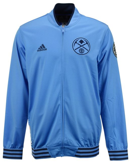 Denver Nuggets Adidas On Court Warm Up Jacket
