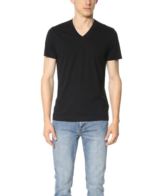 theory koree v neck t shirt in black for men lyst