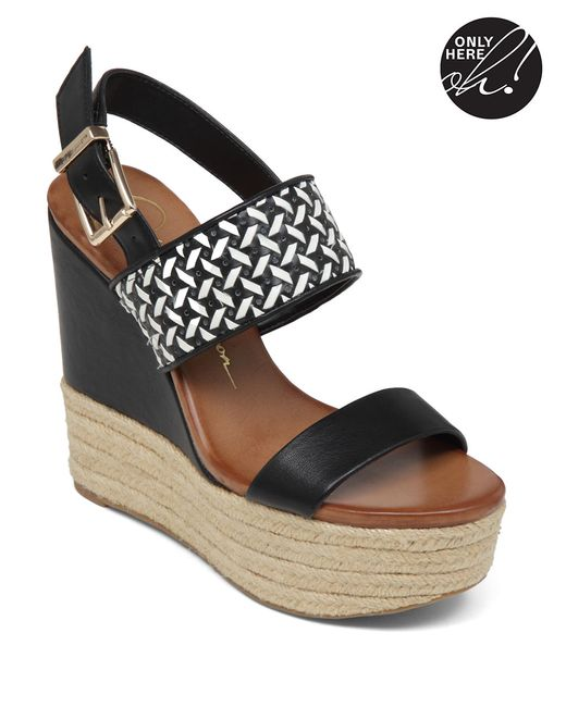 Jessica Simpson | Black Allyn Faux Leather Espadrilles | Lyst