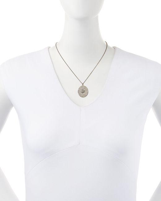 Armenta | Metallic Large Pave Diamond Oval Pendant Necklace | Lyst