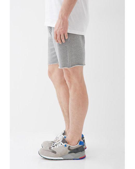 Forever 21   Gray Varsity-striped Cutoff Sweatshorts for Men   Lyst