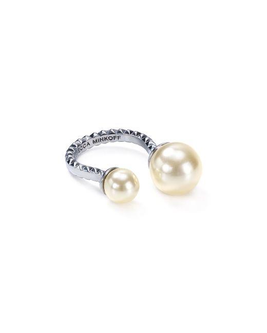 Rebecca Minkoff | White Faux-pearl U Ring | Lyst