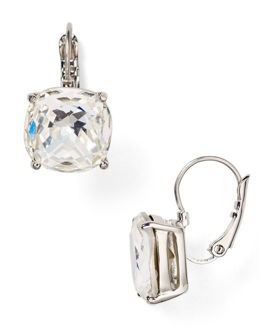 Kate Spade   Metallic Square Leverback Earrings   Lyst