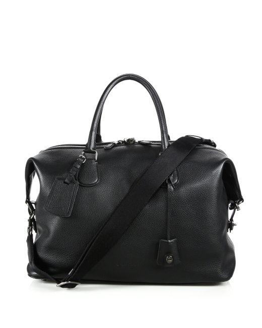 COACH | Black Explorer Leather Duffel Bag for Men | Lyst