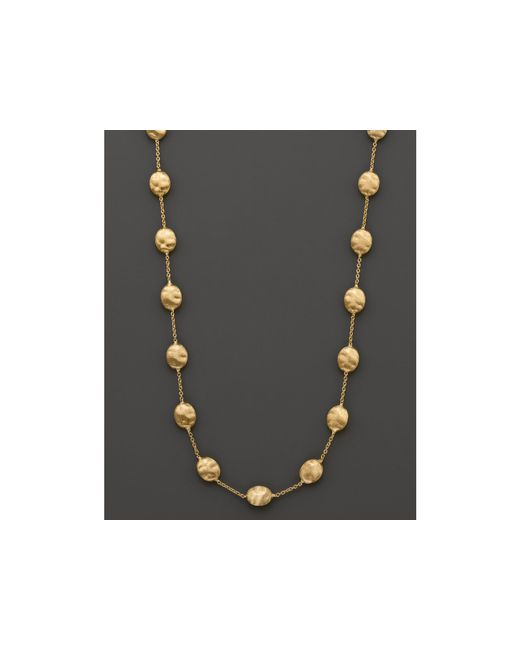 "Marco Bicego | Metallic ""siviglia Collection"" Large Bead Necklace In 18 Kt. Yellow Gold 
