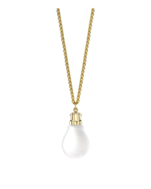 Theo Fennell | Metallic Light Bulb Pendant | Lyst