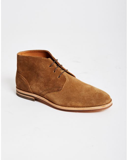 hudson houghton suede chukka boots in brown for lyst