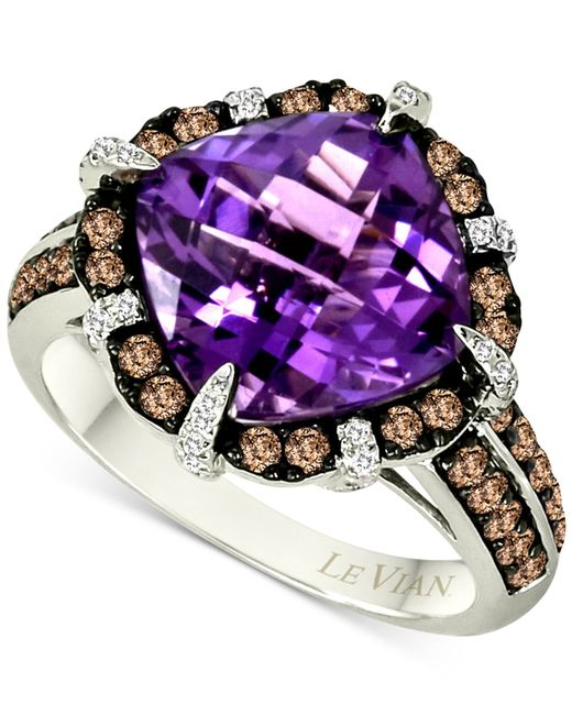 Le Vian | Purple Amethyst (4-4/5 Ct. T.w.) And Diamond (3/4 Ct. T.w.) Ring In 14k White Gold | Lyst