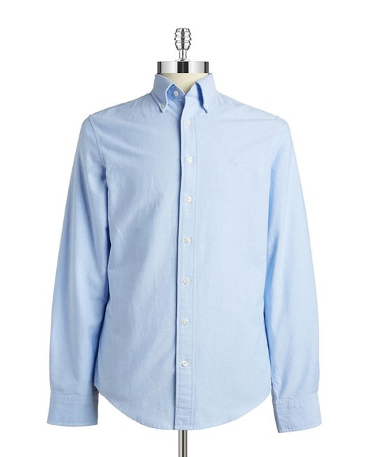 Gant Rugger | Blue Fitted Oxford Sportshirt for Men | Lyst
