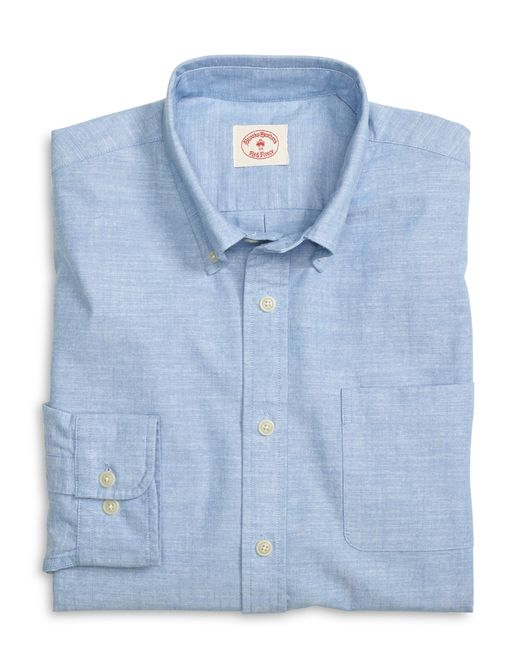 Brooks Brothers   Blue Chambray Sport Shirt for Men   Lyst
