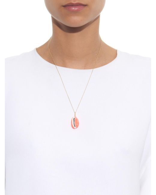 Aurelie Bidermann | Pink Merco Shell And Gold Necklace | Lyst