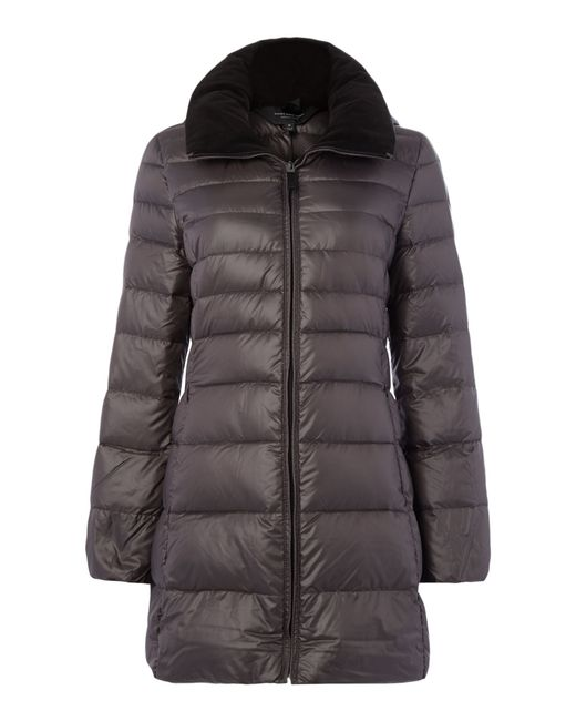 Andrew Marc | Gray Padded Style Coat With Hood | Lyst
