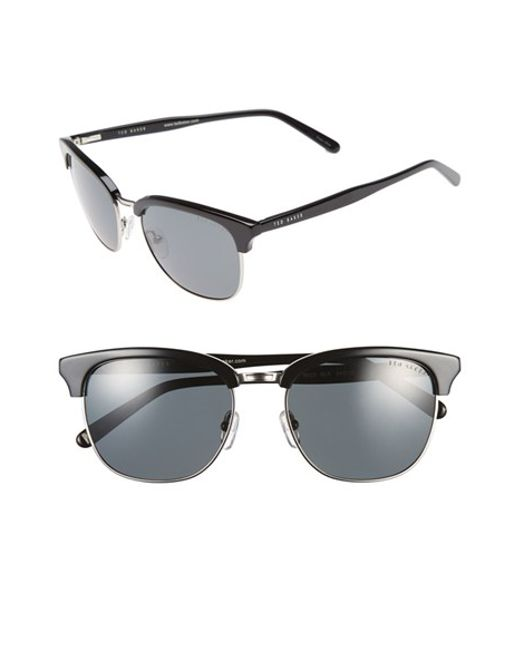 Ted Baker | Black 54mm Polarized Sunglasses for Men | Lyst