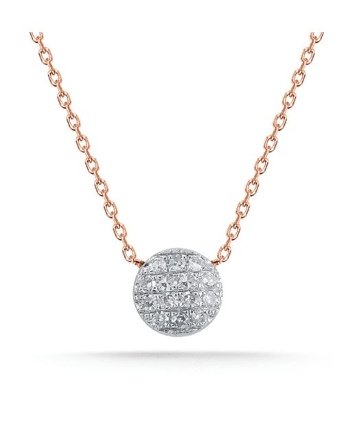 Dana Rebecca | Metallic Rose Gold Lauren Joy Mini Necklace | Lyst