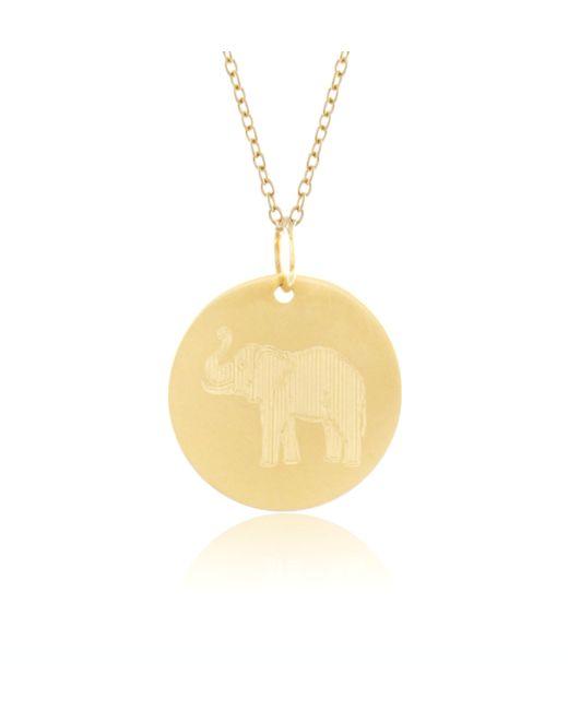 Emily & Ashley | Yellow 14k Gold Elephant Charm | Lyst