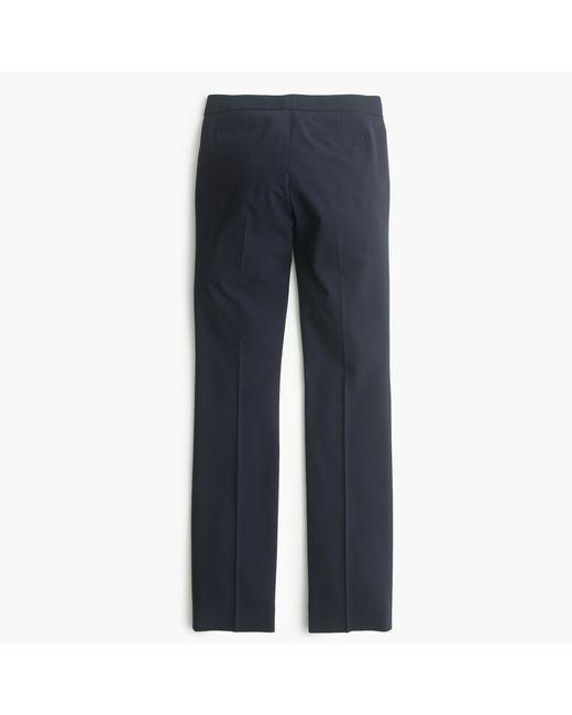 J.Crew | Blue Petite Campbell Trouser In Italian Stretch Wool | Lyst