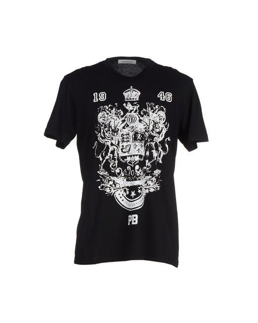 Balmain | Black T-shirt for Men | Lyst