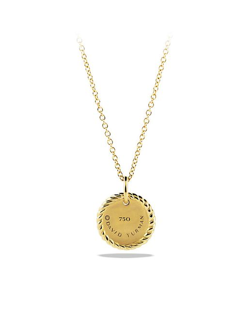 David Yurman   Metallic Cable Collectibles Pavé Charm Necklace With Diamonds In 18k Gold   Lyst