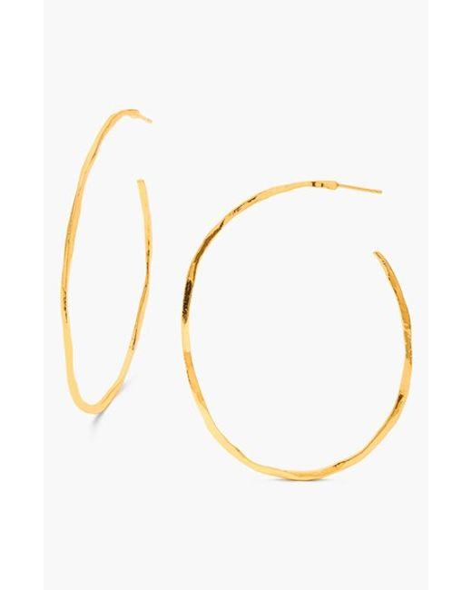 Gorjana   Metallic 'laurel' Hoop Earrings   Lyst