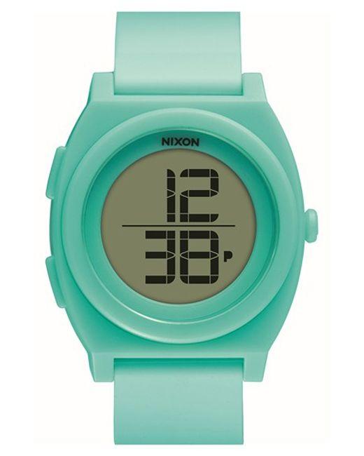 Nixon | Green 'time Teller' Digital Watch | Lyst